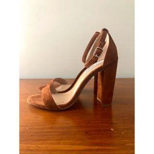 Steve Madden Carrson Sandals in Chestnut Suede